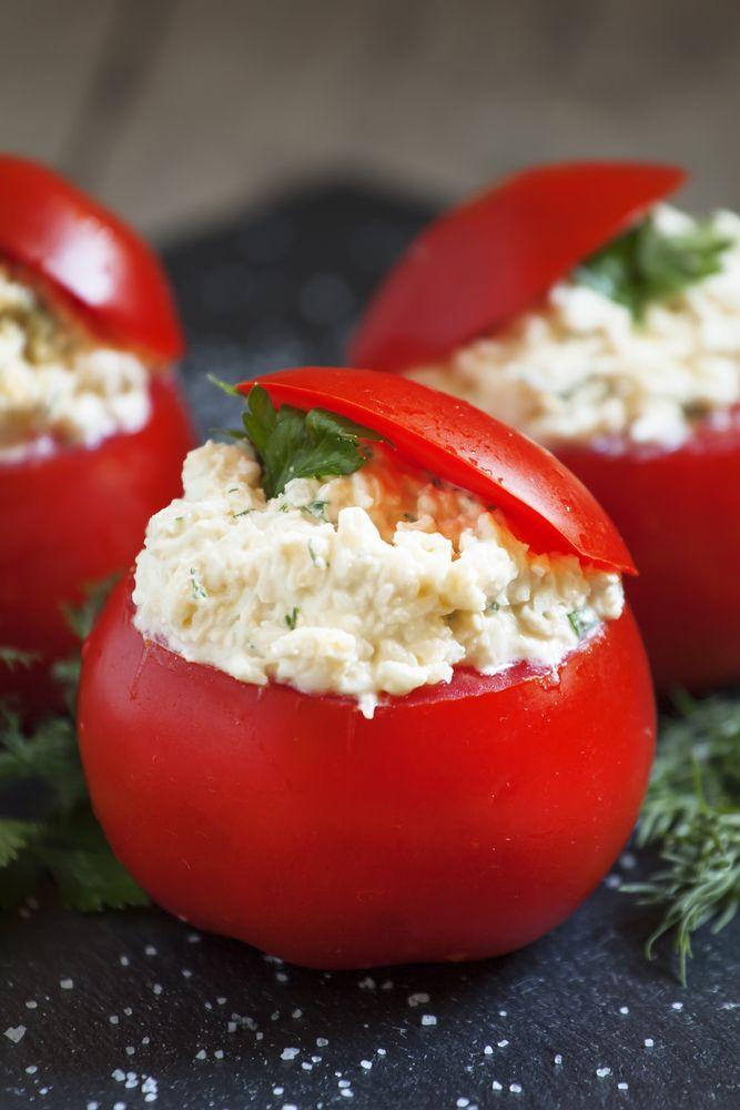 Tomate farcie au fromage frais et basilic !   Recettes de ...