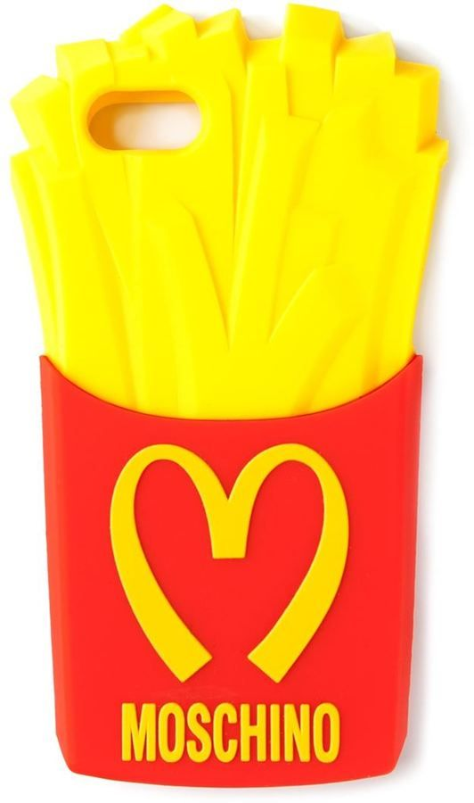 Moschino fries iPhone case
