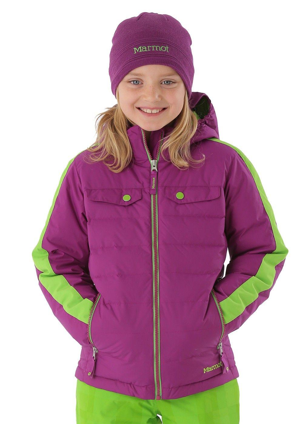 5cfbb6927 Marmot Girls Zermatt Jacket (Bright Berry/Green Envy) | PUFFERS 2016 ...