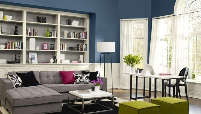 farbideen wohnzimmer grautöne farbkombination | Einrichten und ...