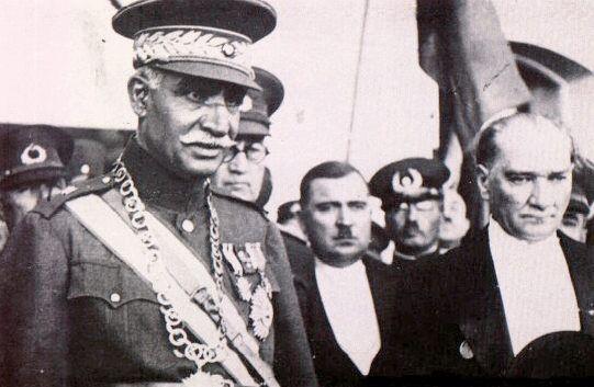 Mustafa Kemal Ataturk With Reza Shah Pahlavi Pahlavi Dynasty The Shah Of Iran History