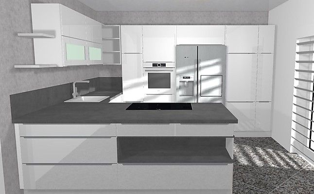 Bildergebnis Für Küche Mit Side By Side Kühlschrank Mit