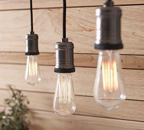 These Exposed Bulb Track Lighting Pendants Suspended From Cloth Cords Are Warm And Elegant Over Tables Workes Set Of Two 199