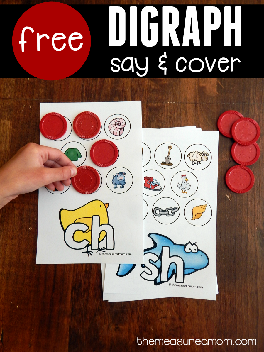 32380af9436 These colorful say & cover mats are FREE and perfect for helping kids hear  the sounds of common digraphs!