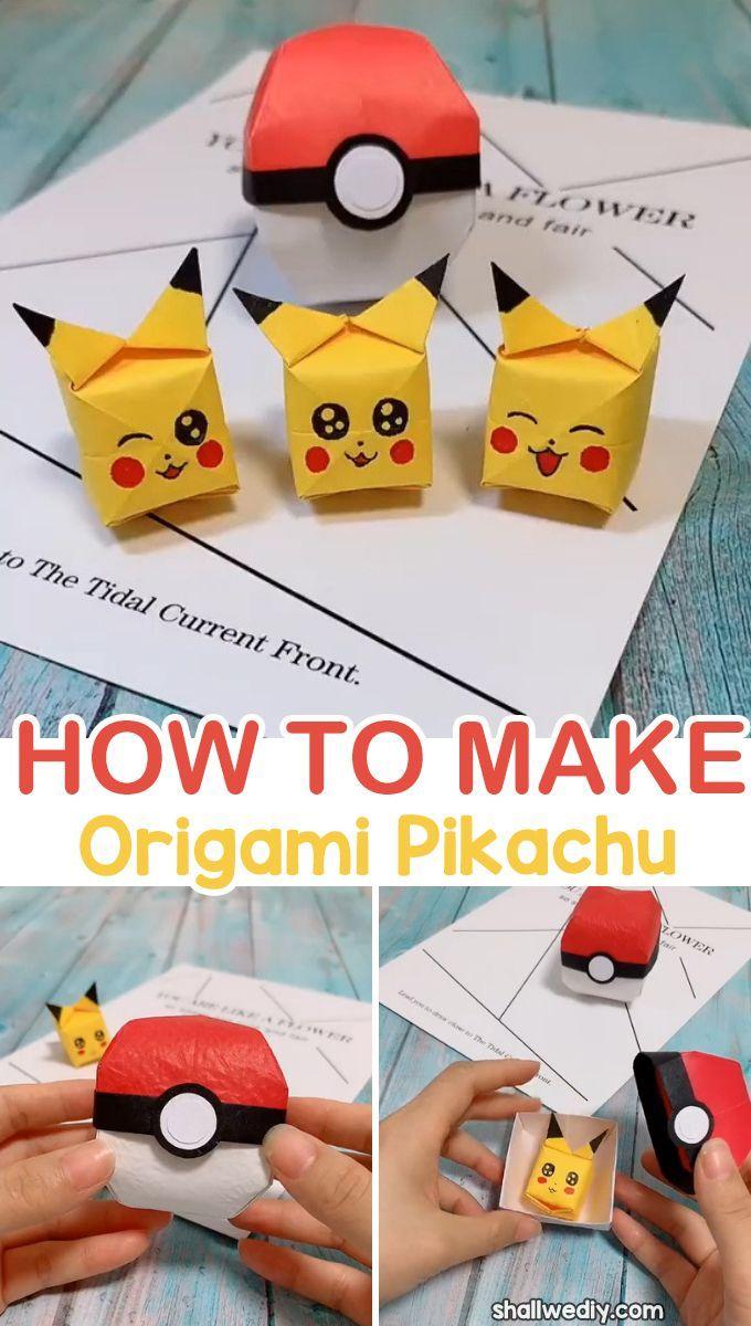 Photo of Wie man Origami Pikachu Würfel macht – WIR SIND DIY – Origami 5