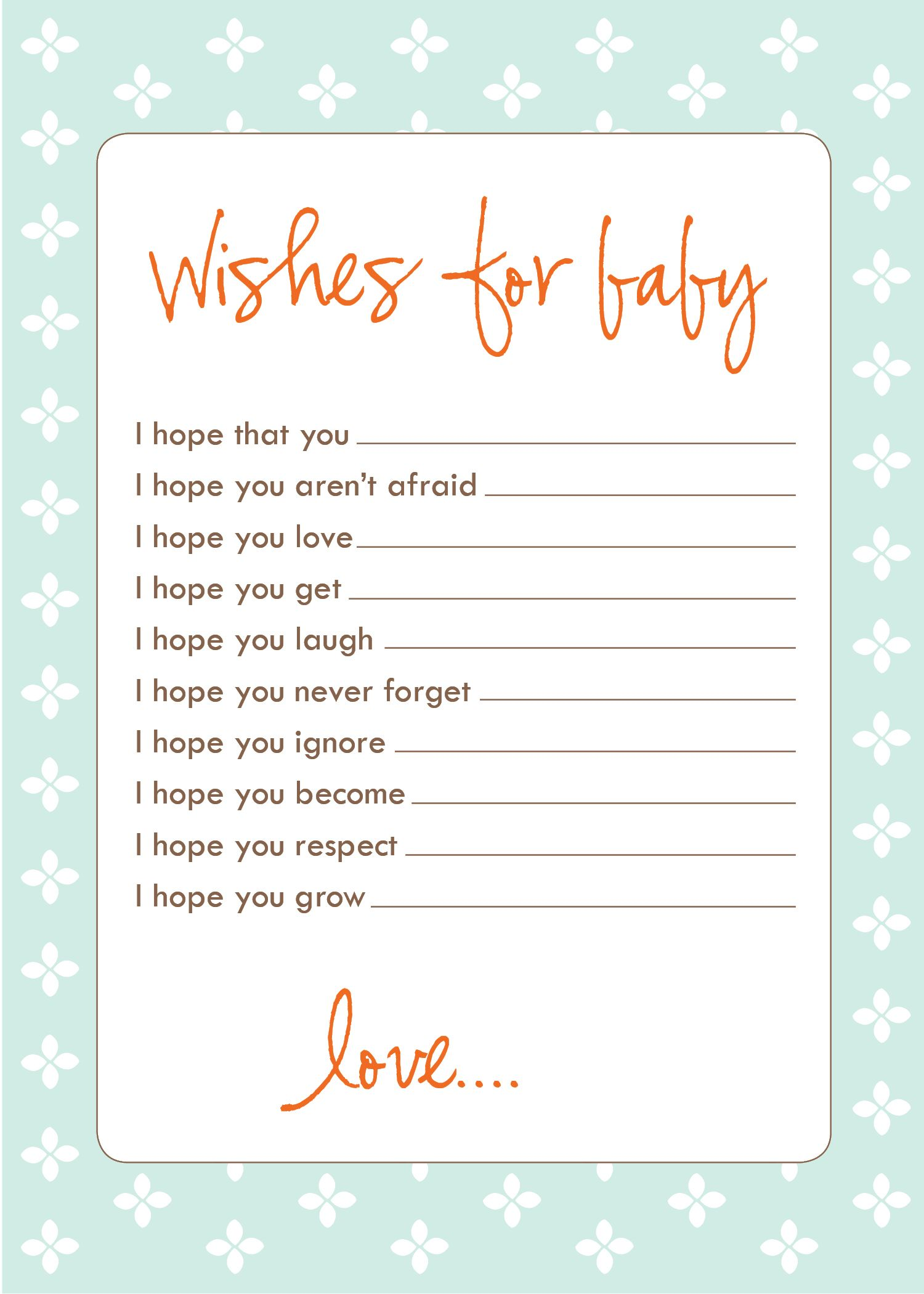 Freebie Wish Cards