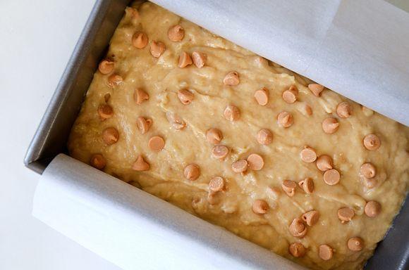 Peanut Butter Banana Bread Recipe from justataste.com