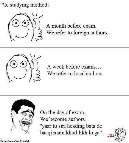 Jokes On College Life Exam Local Author Study Methods
