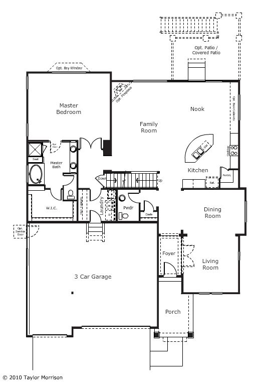 The Devon Floor Plan Is Thoughtfully Laid Out With A Slanted Island In The Kitchen To Make The Most Of The Open S New Home Communities Floor Plans Countryside