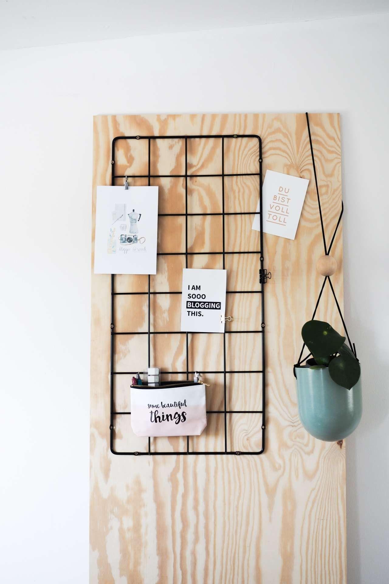 Ikea hack diy wand organizer organizer arbeitszimmer - Gitter pinnwand ...