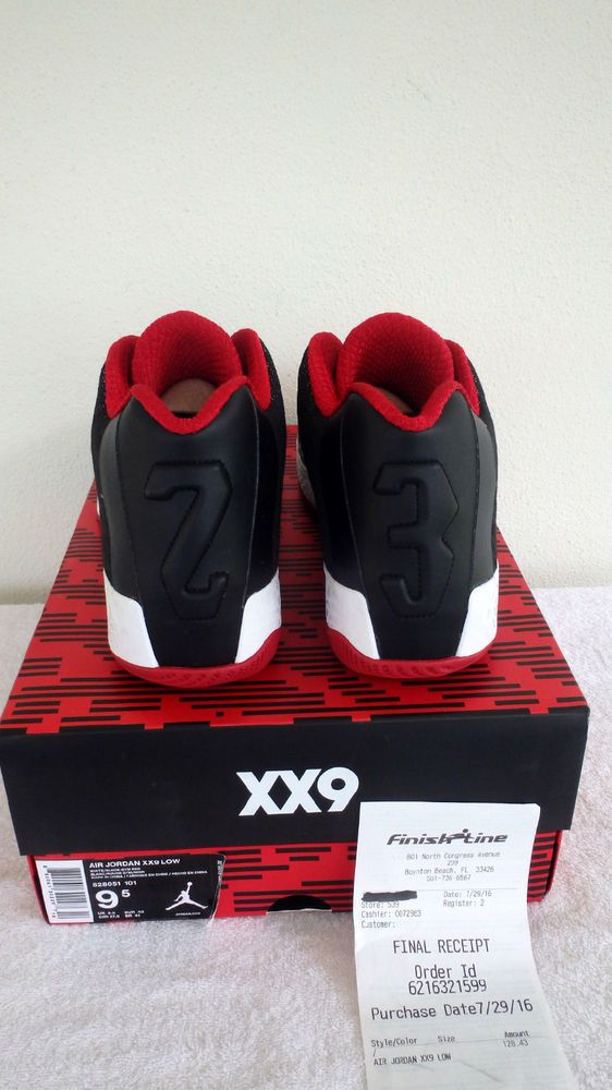 Nike Air Jordan 29 Low XX9 Mens Gym Red Blk White Shoes 828051-101 Sz 9.5 S  New… daa08d62a8