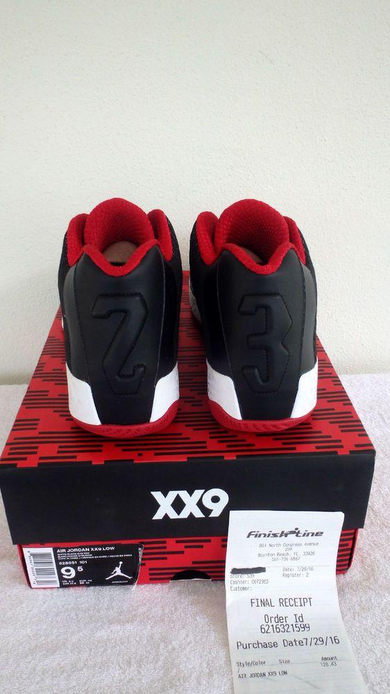 Best Gift Nike Air Jordan XX9 Black White Dark Grey Gym Red