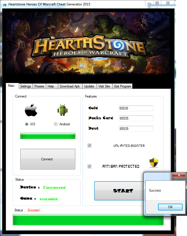 Hearthstone Heroes of Warcraft Hack Cheat Android iOS Free
