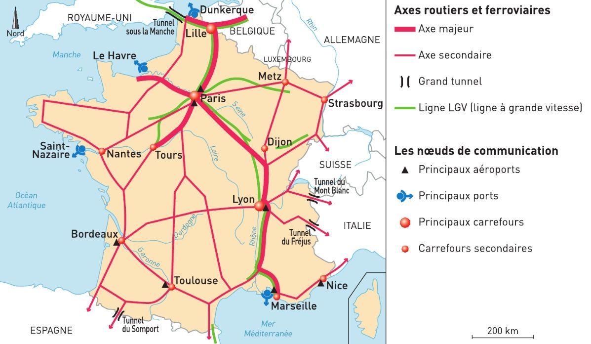 Carte France Axes De Communication Majeurs Recherche Google