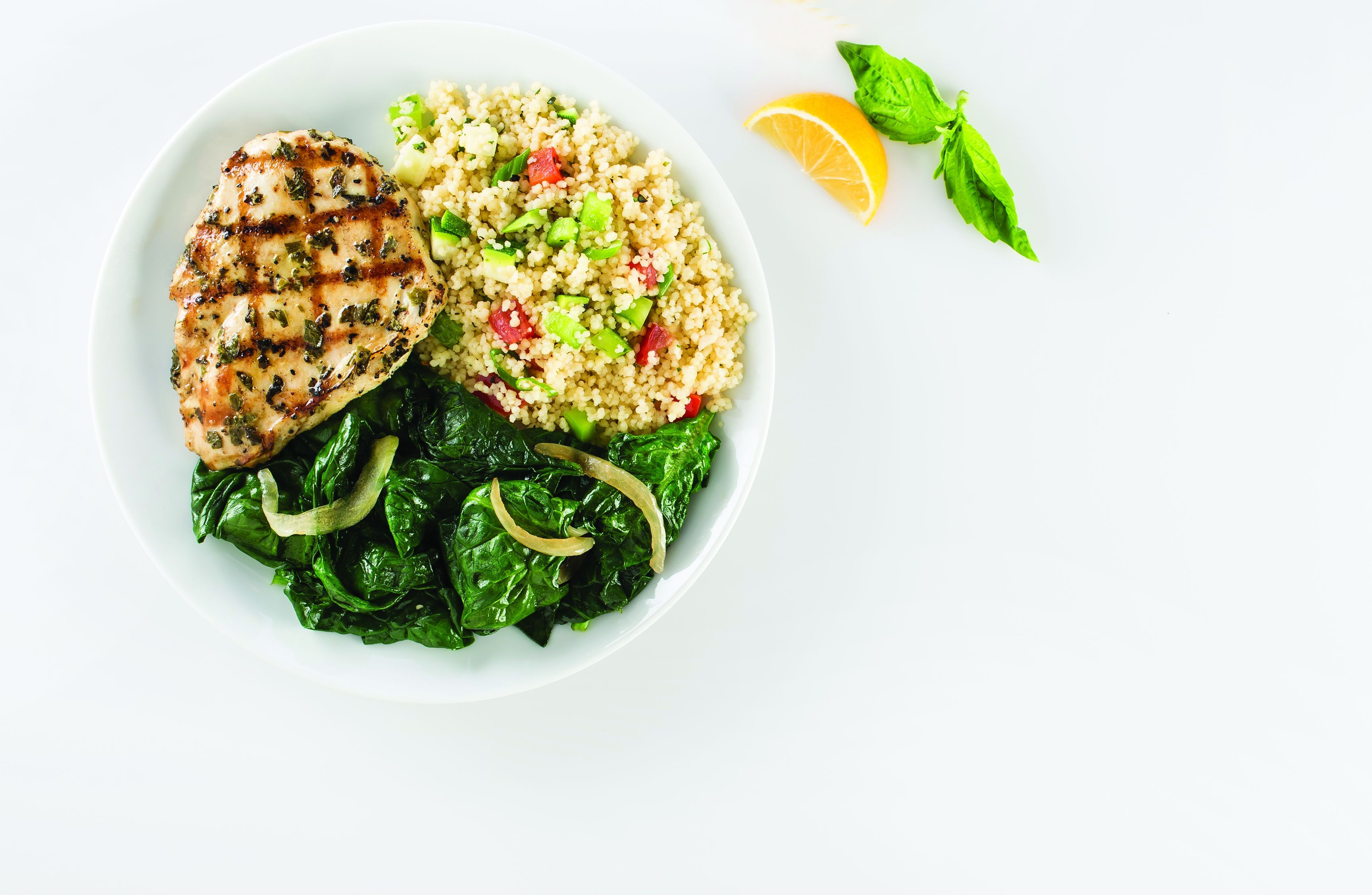 Basil Lemon Chicken Breast with Couscous