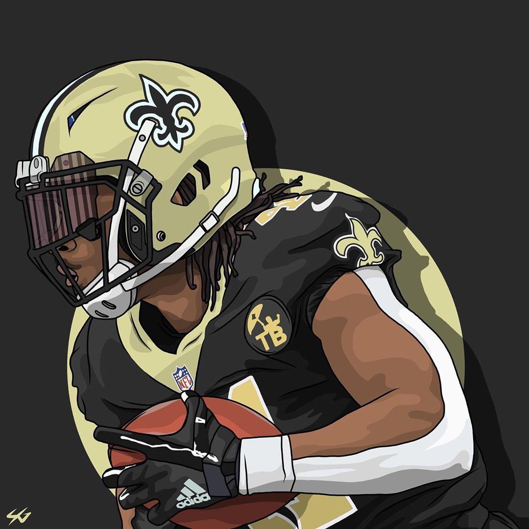 Alvin Kamara Illustration Football Is Almost Back Neworleans Saints Neworleanssaints Alvinkam New Orleans Saints Football Alvin Kamara Saints Football