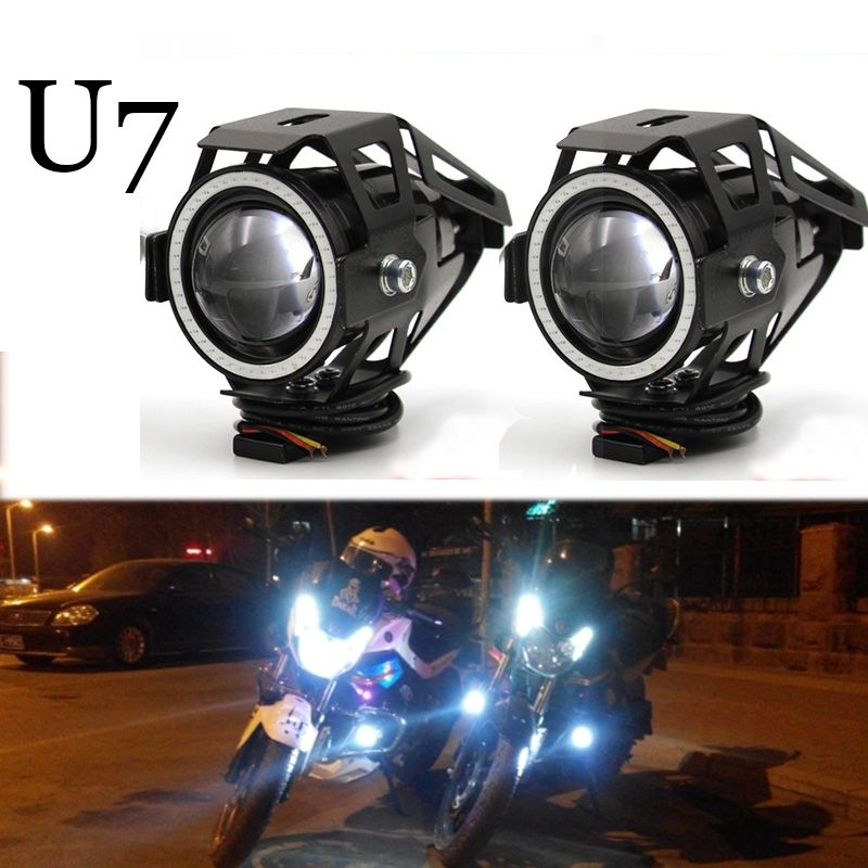 Best Price Meetrock 2 Pcs Motorcycle Headlight Led U7 Motorbike