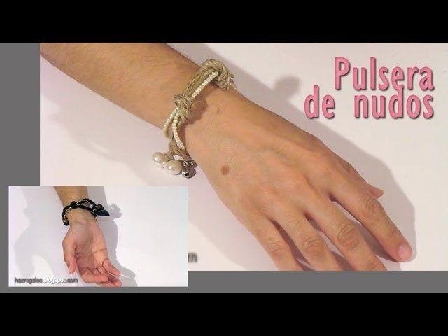 Reciclamos una Pulsera con Nudos - DIY - Recycling a Knot Bracelet