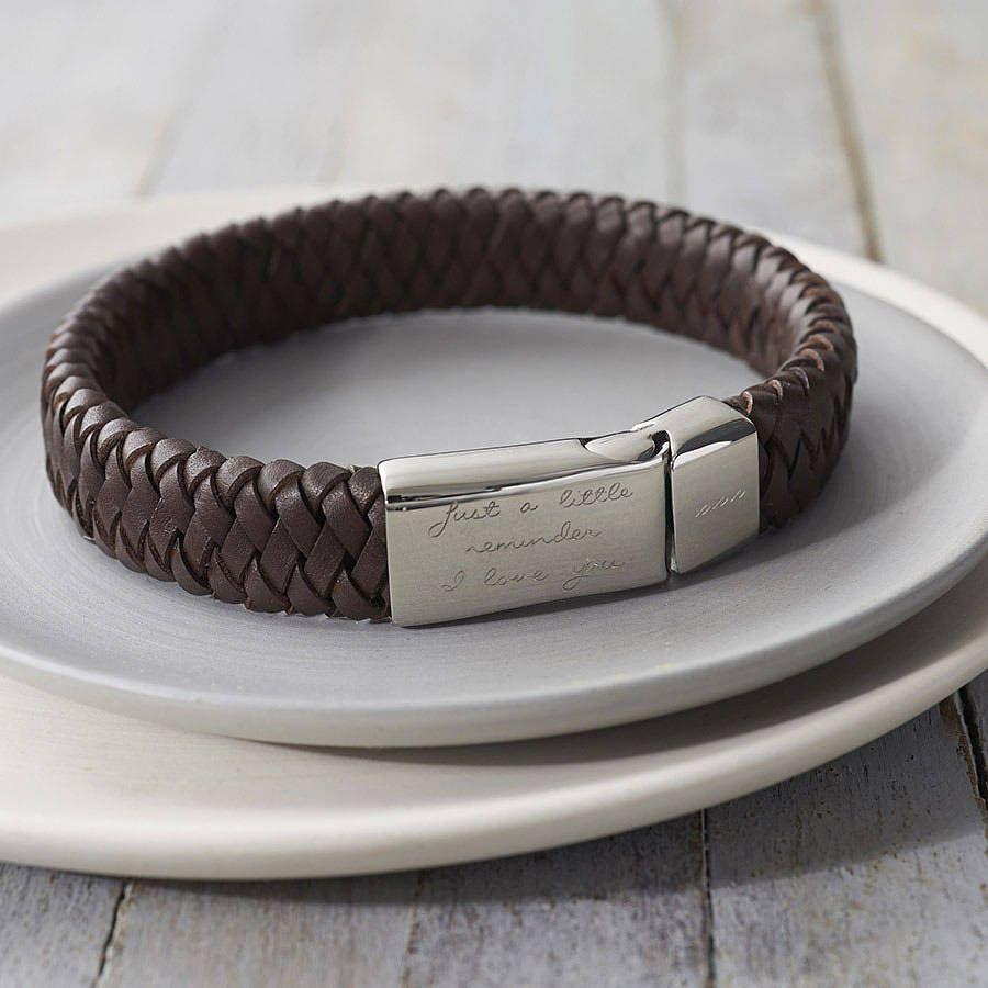 Men's Engraved Message Bracelet