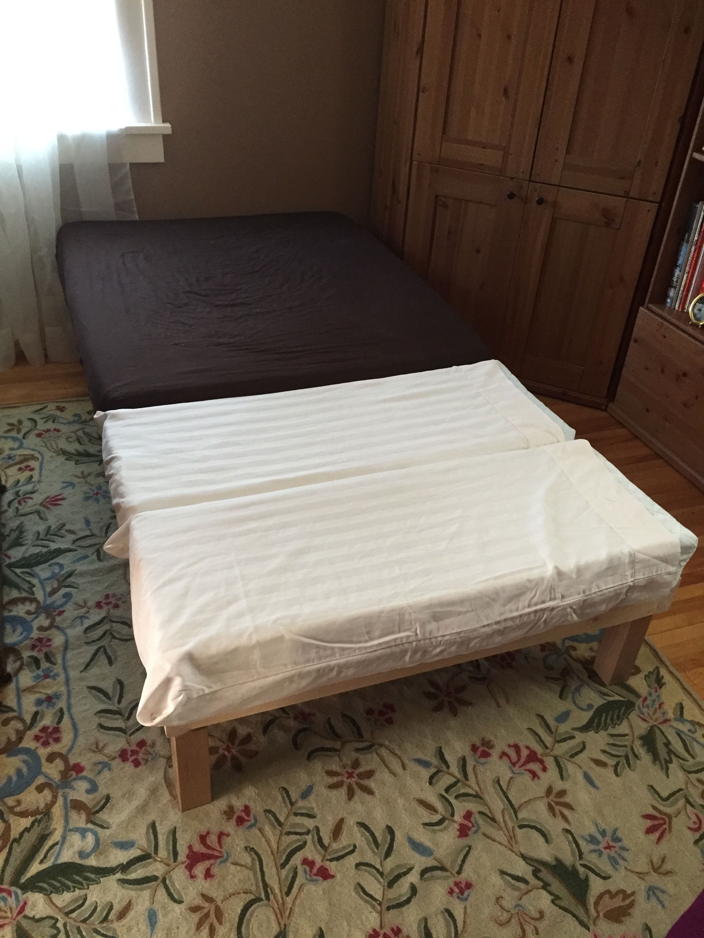 making a chaise twin daybed diy with extendable ikea toddler to twin