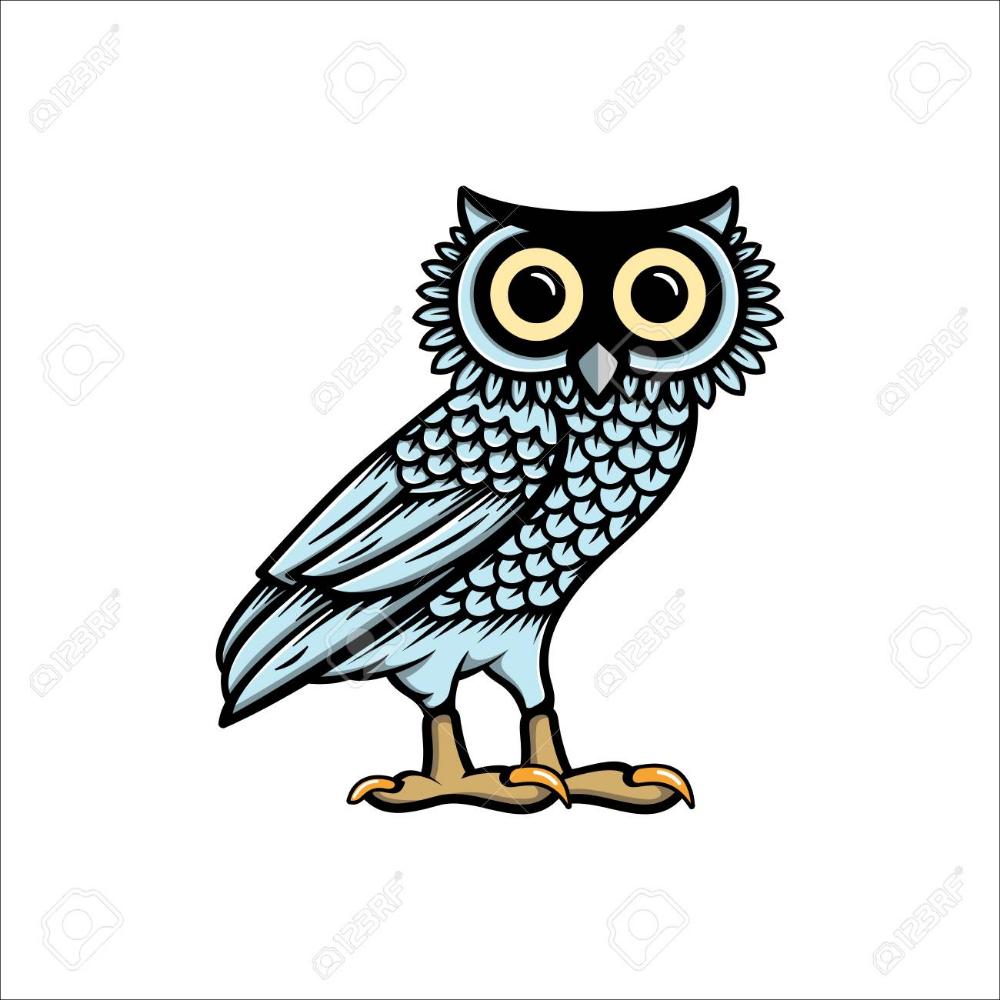 Stock Vector Owl illustration, Vector logo, Illustration