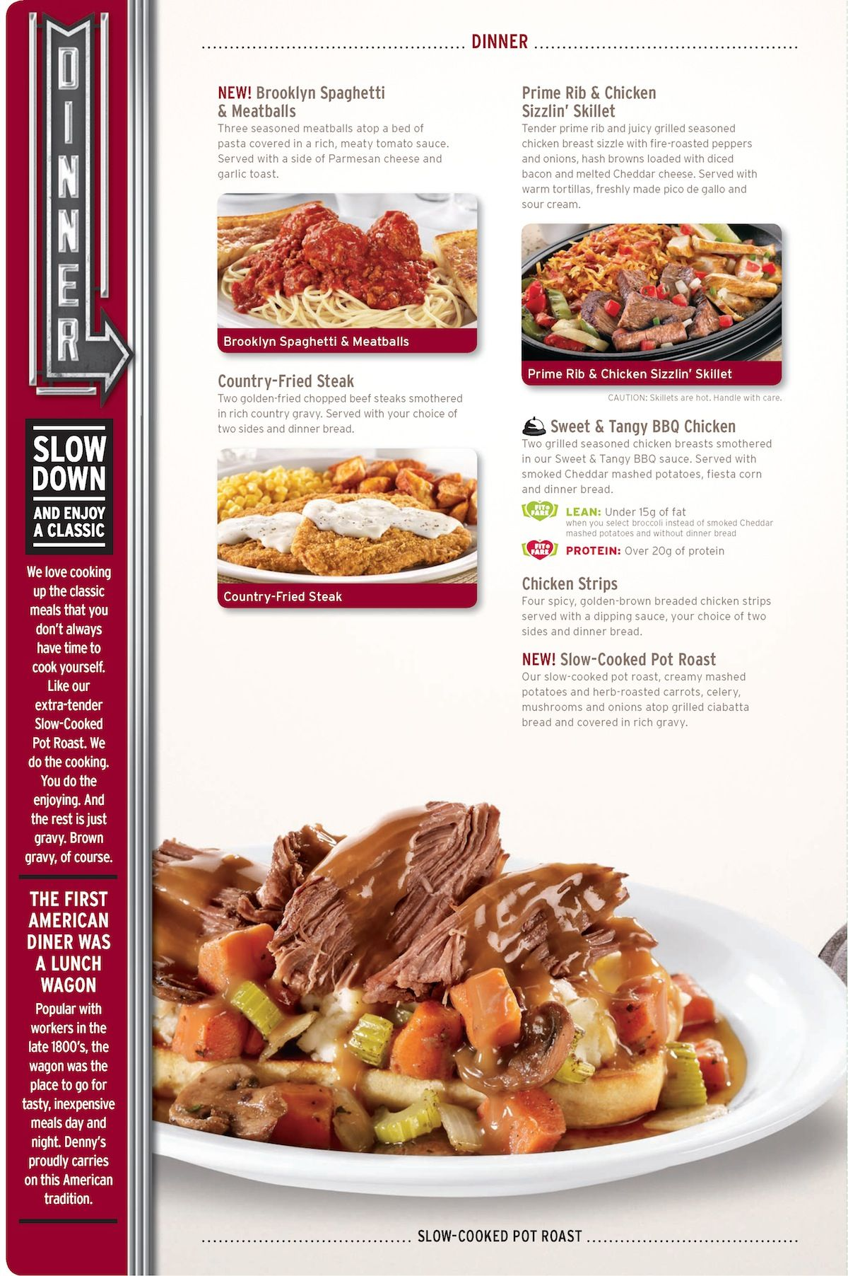 "So, my friends, let us revel in the joy of Denny's new ""Festive Flavors"" menu. It is a menu of Thanksgiving and holiday food bounty, and it is the good, good news you deserve today."