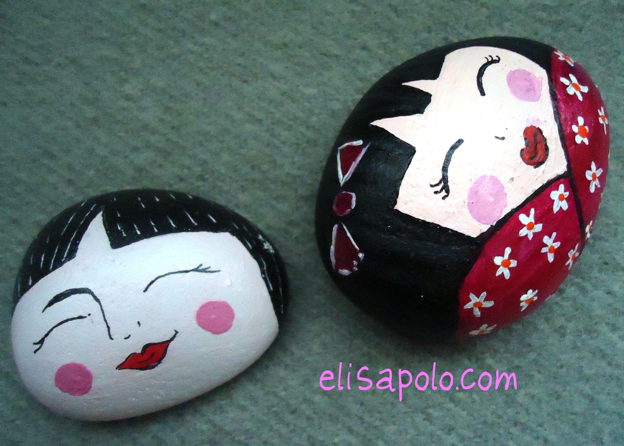 Piedras manualidades ni as pinterest piedras piedra for Pintura para pintar piedras