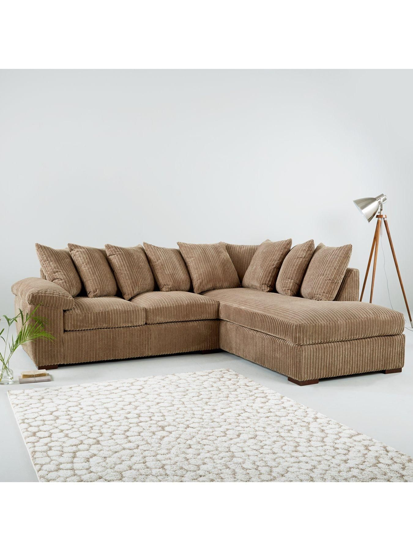 Amalfi Right Hand Scatter Back Fabric Corner Chaise Sofa Chaise Sofa Chaise Sofa