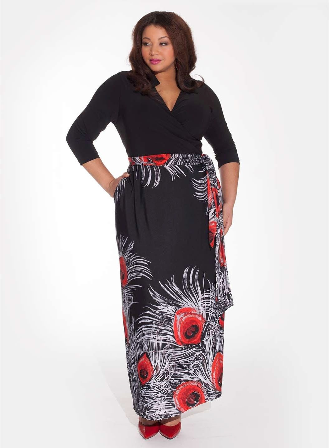 a54bbdd5a40 CSC® studio Cap-Sleeve Mock Wrap Dress at HSN.com