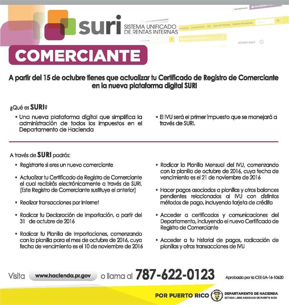 ATENCIÓN COMERCIANTE - Actualización Certificado de Registro de ...