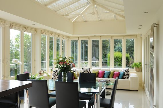 Orangery interior rear extension glass doors pinterest for Orangery interior design ideas