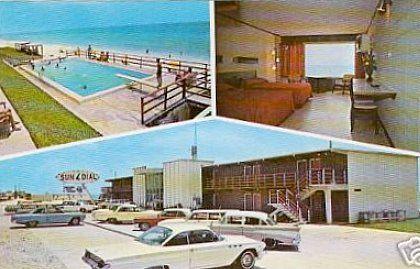 Sun Dial Motel Panama City Beach Florida 1960 S Post Card Panama City Beach Florida Panama City Beach Fl Panama City Beach Motels