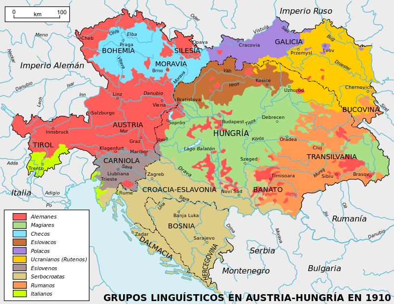 Austria hungary ethnic es hungra wikipedia la enciclopedia ethno linguistic map of austria hungary 1910 gumiabroncs Image collections