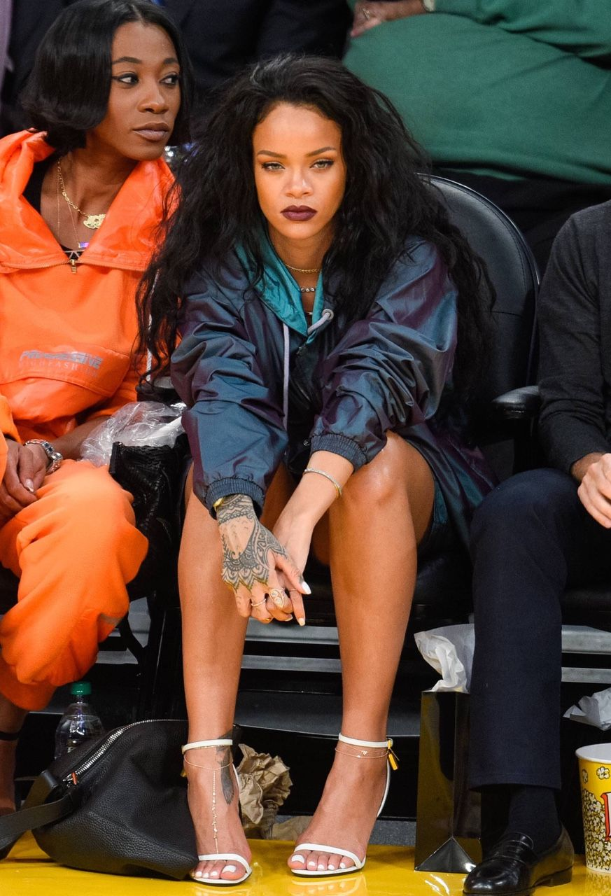 Rihanna at the Staples Center in LA