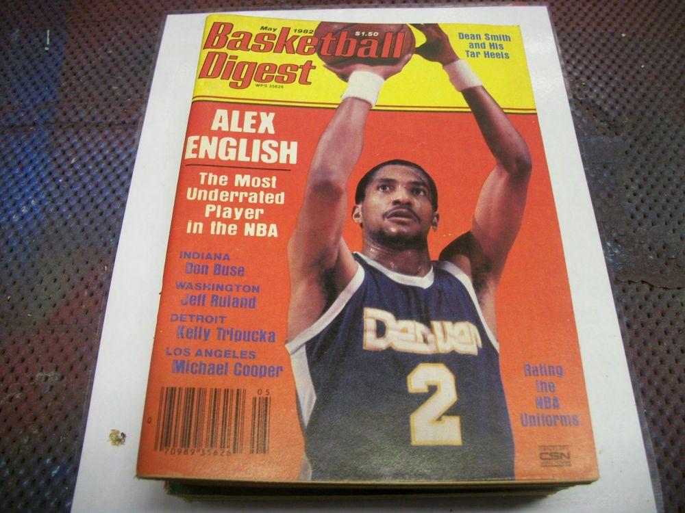 May 1982 Basketball Digest Alex English Denver Nuggets No