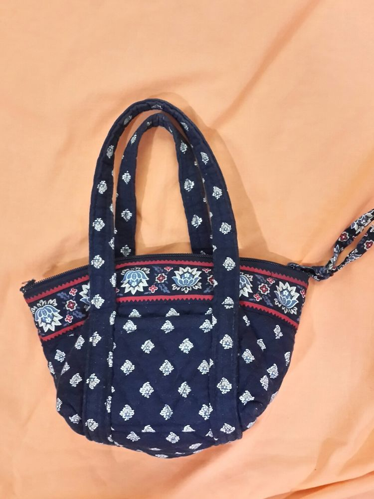 ff5ec162ba Vera Bradley Jilly Mini Tote Purse Black Floral Retired Pattern 5
