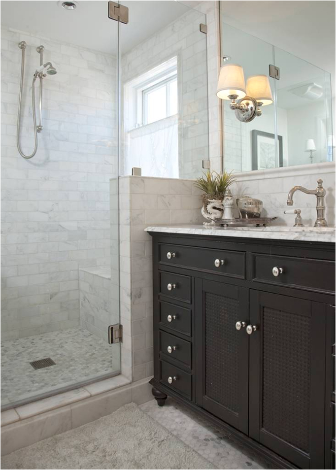Subway Tiles In Shower Key Interiors By Shinay Cottage Style Bathroom Design Ideas