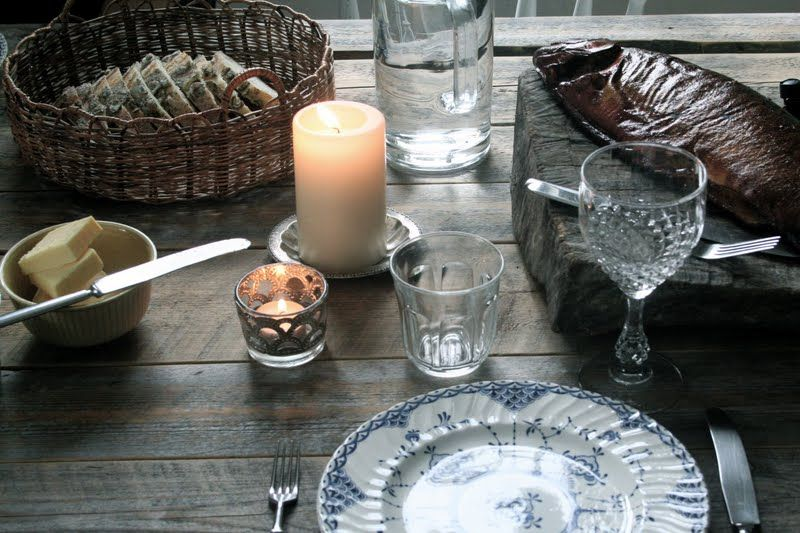 table set for a finnish meal