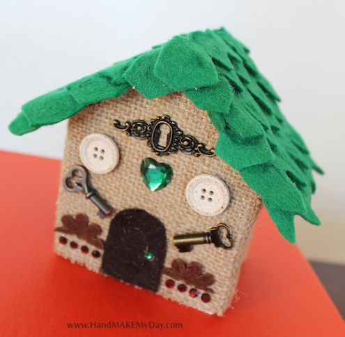 Two new takes on Andrea Currie's (from Craft Wars) Pop Craft gnome home with free template