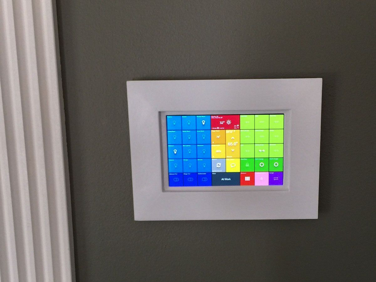 smarttiles wall mounted tablet example from bbadalucco - Tablet Wall Mount