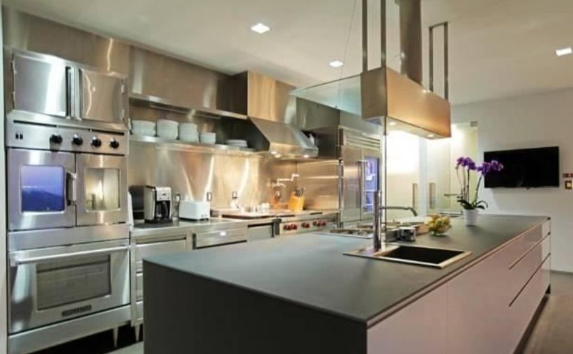 I'm obsessed with stainless kitchens!