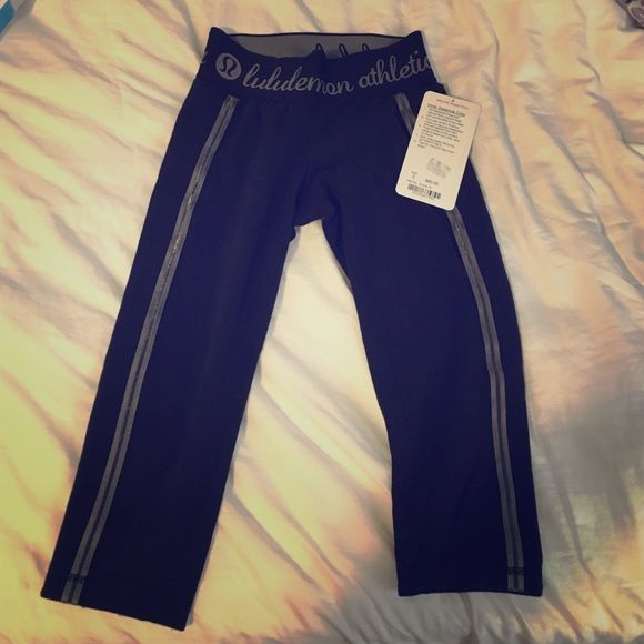 LULULEMON crops! NEW with tags! These are brand new, zero flaws, tags attached in perfect condition! Wishing I could keep them but I am a size 4 in lulu rather than 2. Very cute style and soft material! Make an offer! lululemon athletica Pants Ankle & Cropped