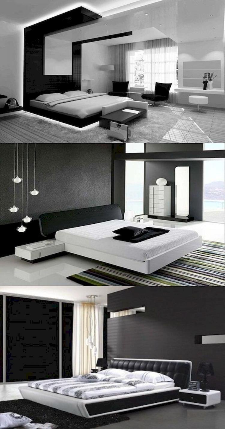 65 Stunning Black And White Modern Bedroom Decor Ideas Bedrooms Bedroomdecor Bedroomdecorideas
