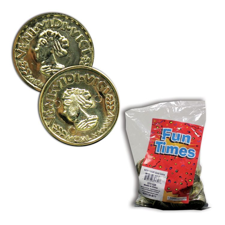 "Gold Coins-1 1/2"" - 144 Pack 