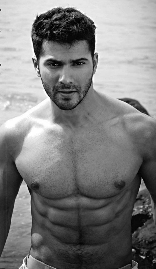 Shirtless Bollywood Men: Varun Dhawan