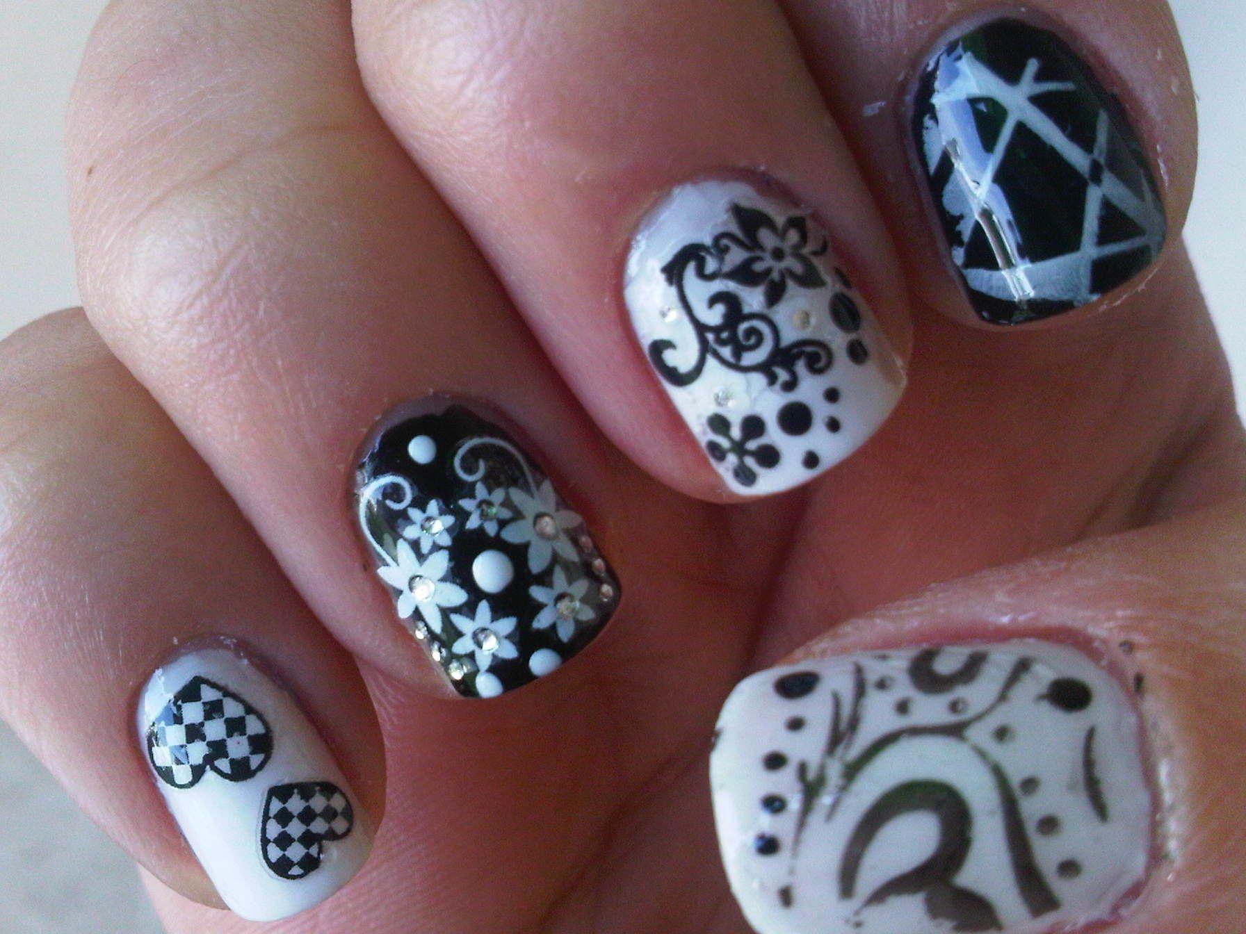 Cute nail designs black 445 days ago black and white nails cute nail designs black 445 days ago black and white nails cool prinsesfo Choice Image