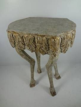 Tall Wooden Carved Stag Side Table | Mecox Gardens