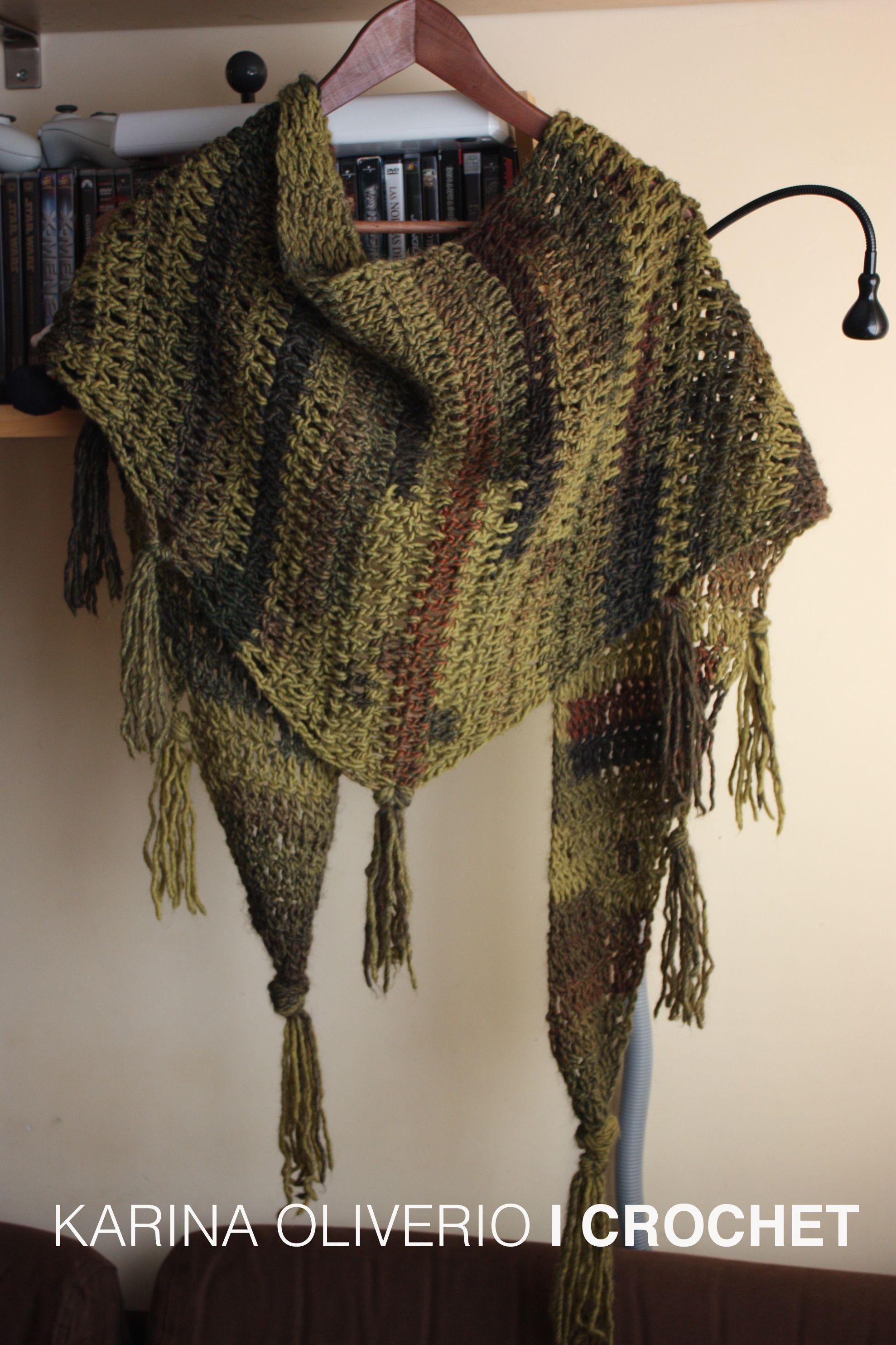 Crochet Baktus Scarf Pattern Handmade Capas Y Pashminas