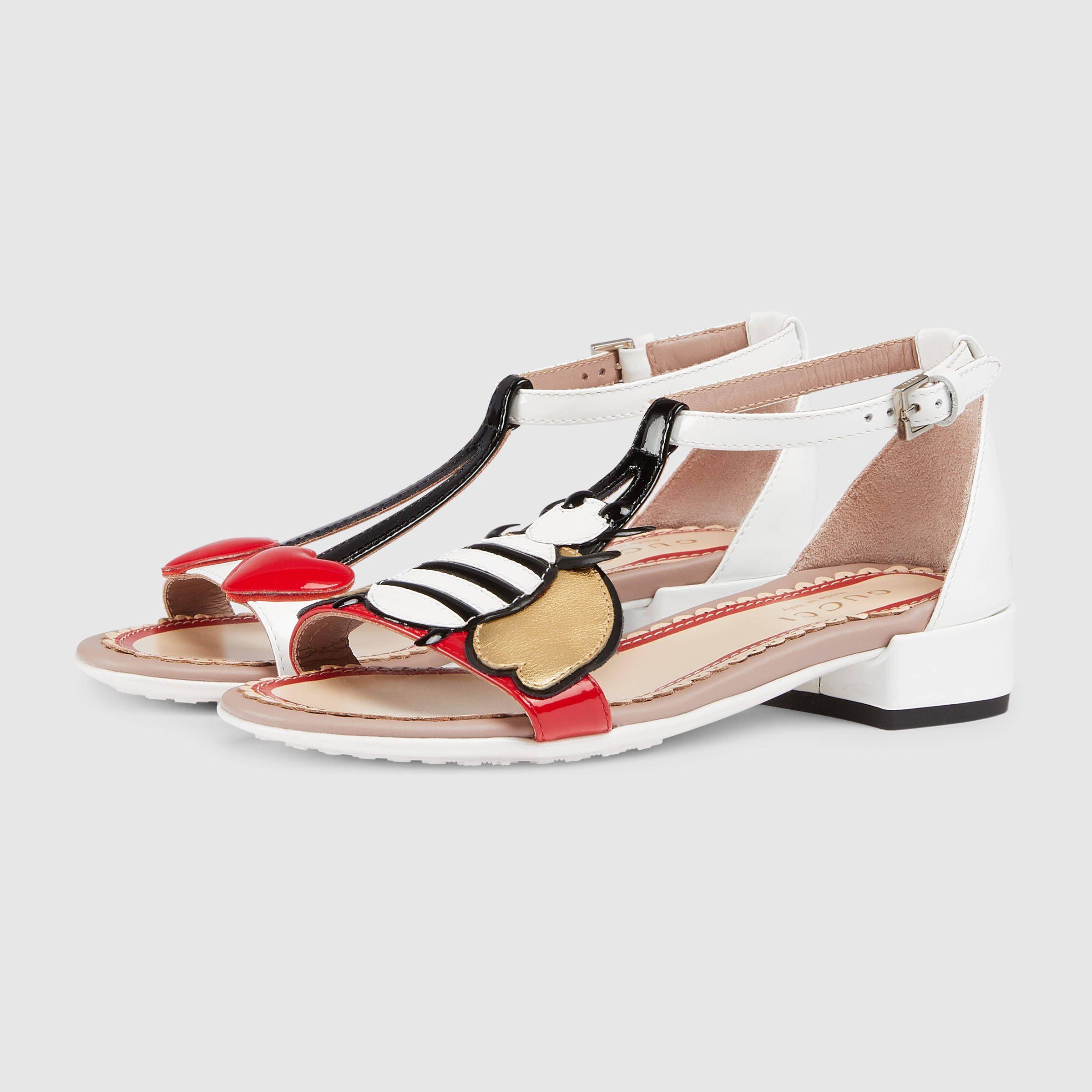 5fe8296364bc Gucci Children s patent leather sandal Detail 6 Girls Sandals