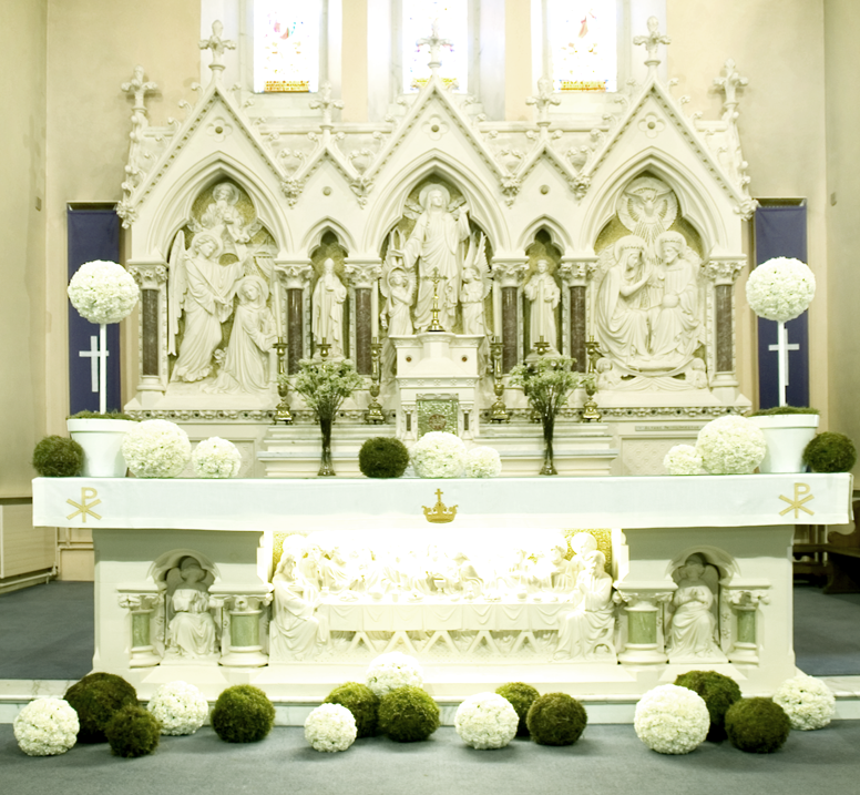 Church Altars Modern Flower Arrangement: Wedding Church Altar Ceremony Flowers Images
